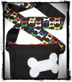 Keep your doggie treats in this cute doggie bag! #SewAndTell