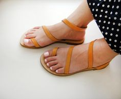Sandals  Genuine Greek Style Leather Sandals in by Sandelles, €29.00