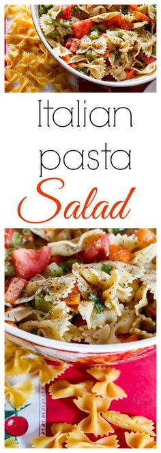 I LOVE THIS ITALIAN PASTA SALAD. COLORFUL, FILLED WITH GOOD VEGETABLES I OFTEN PREPARE THIS RECIPE FOR MY KIDS LUNCHES . FLAVOR AND PLEASURE GUARANTEED OTHERS RECIPES SALADS YOU WILL LOVE: Pasta Recipes, Salad Recipes, Summer Pasta Salad, Pasta Salad Italian, Vegetable Salad, Quinoa Salad, Dressing Recipe, Other Recipes, How To Cook Pasta
