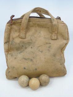 John F Kennedy's Golf Ball Bag & Golf Balls c 1942 : Lot 11