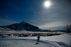 Moonlight skiing in Crested Butte Colorado.... For more info on vacation rentals and our GREAT DISCOUNTS on ski rentals and tickets in CRESTED BUTTE and ASPEN, COLORADO, visit http://www.greatcrestedbuttelodging.com/