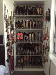 Shoe & jewelry closet
