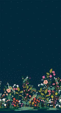 garden Wallpaper - Rifle Paper Co English Garden Growing Garden Metallic Single Border Fabric Cotton and Steel F. Mobile Wallpaper, Garden Wallpaper, Wallpaper Flower, Tier Wallpaper, Animal Wallpaper, Cellphone Wallpaper, Colorful Wallpaper, Wallpaper Backgrounds, Landscape Wallpaper