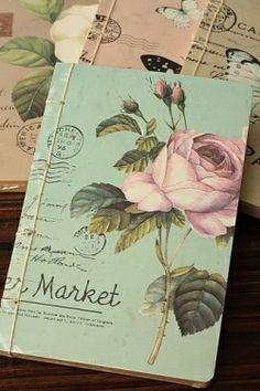 Prachtig notebook met bruine kraft bladzijden #notebook #flower  #notes http://www.postpapierenzo.nl/notebooks-c204.html?sort=date_desc