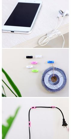 20pcs Stick on table wall stick clip Wire management Wire tidy Wire organizer Cable clip Sale - Banggood.com