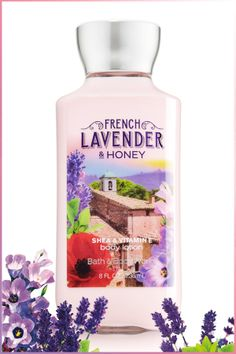 √French Lavender & Honey Body Lotion - Signature Collection - Bath & Body Works// I guess this is my all time fav spring scent Bath & Body Works, Bath N Body, Lavender Honey, French Lavender, Coconut Oil Body Scrub, Body Butter, Shea Butter, Perfume Body Spray, Conditioner