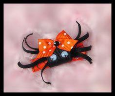 Hair Bow, Sculpture Spider Halloween Bow, Halloween Baby Bow, Girls Bows, Baby Hair Bow, Hair Clip, Photo Prop