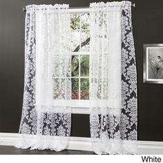 These damask pattern inspired Brea curtains will add beauty and elegance to any home decor. The sheer polyester gives these curtains an airy appeal that gives your living space an open feeling.