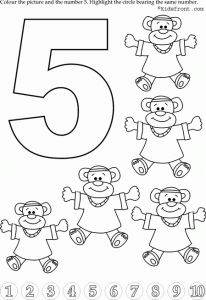 preschool number 5 worksheets (2)