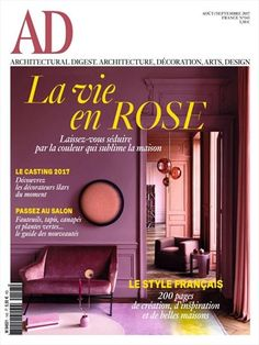 Ad - Architectural Digest - French ed: Ad Architectural Digest, Textures Patterns, Color Patterns, Style Français, Colorful Interiors, Eyeshadow, France, Neon Signs, Ads