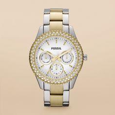 two-tone watch. always goes with my jewelry.