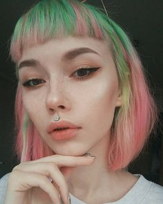 "6,793 curtidas, 20 comentários - ʟᴀʀɪɴᴀ мᴀʏɴᴇʀ (@larinamayner) no Instagram: ""👁️👅👁️"" Neon Hair, Pastel Hair, Blue Hair, Pink Hair, Beautiful Hair Color, Hair Reference, Coloured Hair, Balayage Hair, Pretty Hairstyles"