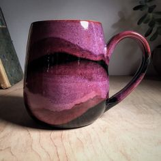 Rich Purple Artisan Coffee Mug, Earthy Organic Handmade Pottery Cup, Eclectic Tea Cup, Boho Cup Pottery Mugs, Ceramic Pottery, Ceramic Art, Thrown Pottery, Slab Pottery, Ceramic Mugs, Ceramic Bowls, Mug Design, Cute Mugs
