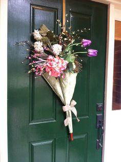 Umbrella Wreath Spring & Summer Wreath by GreatwoodFlorals