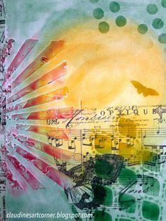 Claudine's Art Corner: Pan Pastels Journal Page