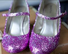 DIY Glitter Shoes! I've made these twice, Once for my wedding with pink and silver and just finished another pair for a friends wedding with purple and silver. They look awesome. *Mine are the ones in the picture*