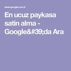 En ucuz paykasa satin alma - Google'da Ara
