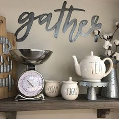 Metal Gather Sign by Simply Inspired Co. https://www.etsy.com/shop/ShopSimplyInspired?ref=shop_sugg #gather #metalsign #kitchendecor #kitchen #raedunn #eat #cotton #farmhouse