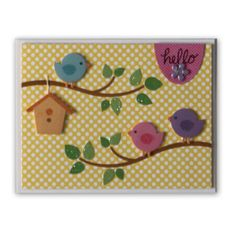 Hello card created using Archiver's exclusive Hello Spring value pack by Doodlebug Design