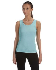 Bella + Canvas Ladies' Stretch Rib Tank 1080 SEAFOAM BLUE