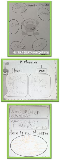 Writer's Workshop with a twist! I Need my Monster Writing and Reading Activities! click on the picture to grab the FREEBIE!! dreambigkinders.blogspot.com