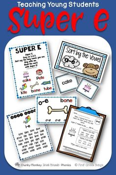 Young students need to master long vowels with Super e to become successful readers! This unit has everything you need to teach this valuable skill- from mini-lessons and word banks to independent work and literacy center activities. $