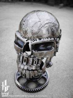 Dimension is approx 24 x 15 x 14 cm x 6 x inches ( height x length x width) Weight is approx 2 kg ( lbs ) ■ It is made from recycled metal, useless auto parts … Read Metal Projects, Metal Crafts, Art En Acier, Art Steampunk, Crane, Sculpture Metal, Abstract Sculpture, Metal Skull, Steel Art
