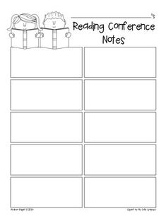 FREE:  Reading & Writing Student Conferences  {Recording Sheets}