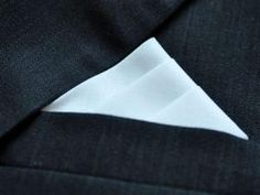 """Web site shows variety of ways to fold Men's Handkerchiefs and Pocket Squares (""""Stair Handkerchief Fold"""" shown) http://bumblebeelinens.com/handkerchiefFolding.php"""