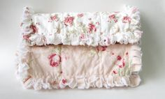 Burp Cloth Baby Girl Shabby Cottage Chic by LittleTreasureQuilts, $22.00