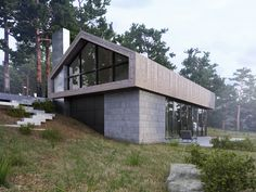Forest House - Загородный дом. Интеграция в реальный ландшафт   PINWIN…