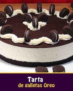 Hoy os queremos mostrar como hacer una tarta de Oreo muy rica y super fácil. Es una tarta fría tan sencilla que se hace sin horno y sin gelatina. En fin, cero complicaciones. Y si os gustan las galletas Oreo seguro que repetiréis una y otra vez. INGREDIENTES, molde de 23 cm, 14 raciones: + 2