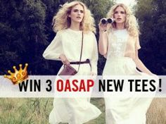 Win 3 OASAP tees ^_^ http://www.pintalabios.info/en/fashion_giveaways/view/en/1726 #International #Fashion #bbloggers #Giveaway