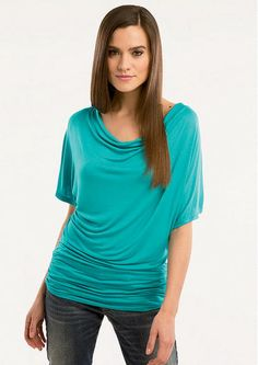 Drape Neck Dolman with Ruched Band - Tall Tops - Alloy Tall - Alloy Apparel