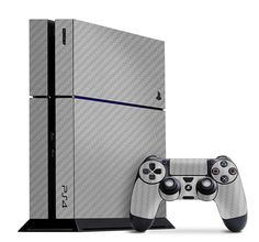 Make your PS4 your own with the Silver Carbon Fiber Slickwrap available now at www.slickwraps.com