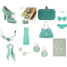 light spring aqua by lightspringgirl on Polyvore featuring polyvore, fashion, style, Dorothy Perkins, Miu Miu, Niclaire, Tiffany & Co., NuNu Designs, Givenchy and Betty Jackson