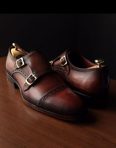 Designed to make a snappy statement, these Paul Parkman captoe double monk-strap shoes have been expertly crafted from finest materials, a premium naturally treated hide that is hand-polished after stitching. They're finished with traditional toecaps and have high quality leather soles for reliable life-long wear. Visit www.paulparkman.com to check out whole collection. #paulparkman #luxuryshoes #bespoke #shoemaker #handmade
