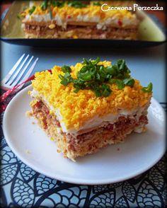 Czerwona Porzeczka: Sałatka z tuńczykiem na krakersach Lasagna, Cooking, Ethnic Recipes, Blog, Kitchen, Blogging, Brewing, Cuisine, Lasagne