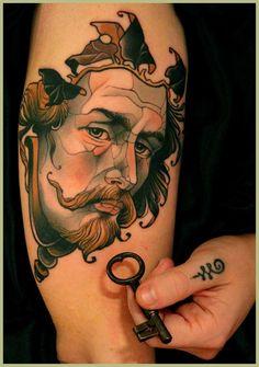 """Tattoo by Lars """"Lu's Lips"""" Uwe Jensen"""