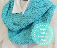 Instructions for Super Easy Crochet Cowl @ notes of sincerity