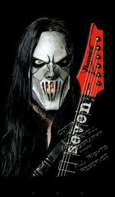 I love the color in this picture. Mick Thompson of slipknot.
