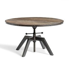 From Pottery Barn, Blaine Bunching coffee table.  Another adjustable height coffee table.