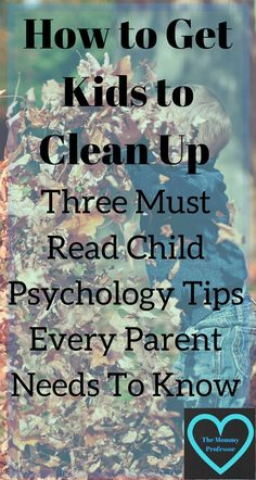 how to get kids to clean up / child psychology / http://themommyprofessor.org/how-to-get-kids-to-clean-up-three-must-read-child-psychology-tips-every-parent-needs-to-know/