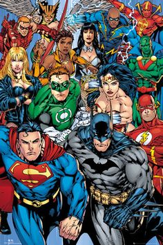 DC Comics Character Collage Poster