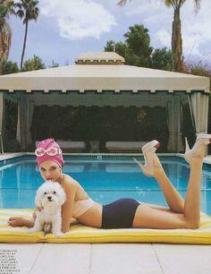 vintage palm springs pool shoot | Palm Springs, anyone? | joujou papillon