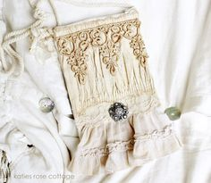 Flea Market Vintage Shirred Muslin and Lace