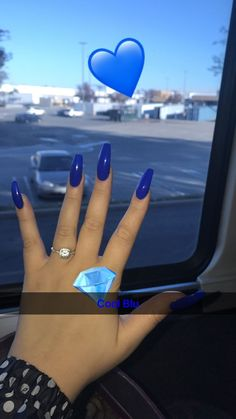 How to choose your fake nails? - My Nails Blue Coffin Nails, Blue Acrylic Nails, Acrylic Nail Designs, Coffin Acrylic Nails Long, Prom Nails, Long Nails, My Nails, Matte Nails, Stiletto Nails