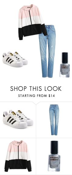 """Cute Casual"" by awesome-banana ❤ liked on Polyvore featuring adidas Originals, Levi's and Cirque Colors"