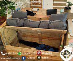Sillón, escritorio y baúl #dpallet #mobiliarioecologico #diseñointeriorMobiliario para #hogar  ventas@dpallet.com.mx WhatsApp 3310554119 Tel. 10320165  #Pallet #Palletfurniture #Ecofriendly #Pet  #Muebles #Mueblesconpalet