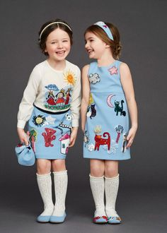 VOGUE ENFANTS: Dolce&Gabbana Fall Winter runway collection, for a stunning double statement this fall Fashion Design For Kids, Fashion Kids, Trendy Fashion, Fashion 2016, Winter Fashion, Fashion Trends, Little Girl Fashion, Little Girl Dresses, Girls Dresses